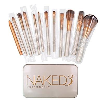 AiSi 12 Pcs Bamboo Handle Makeup Brushes Kabuki Powder Foundation blusher Cosmetic Brushes With Box