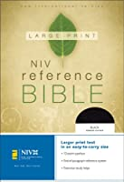 NIV Large Print Reference Bible, Personal Size (Black Bonded Leather)