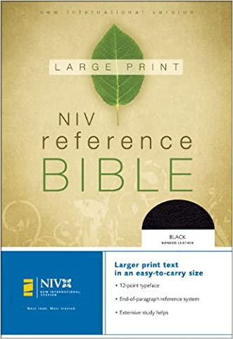 NIV Large Print Reference Bible, Personal Size (Black Bonded Leather) written by Zondervan
