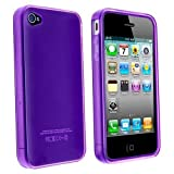 Purple TPU Flexible Case For Apple Iphone 4 4G