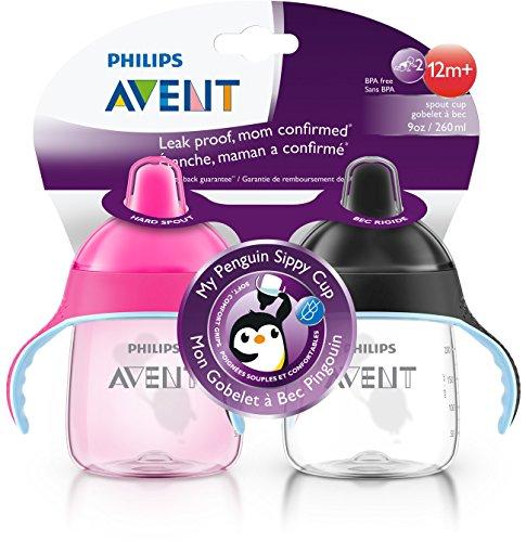 Philips AVENT My Penguin 婴儿企鹅学饮杯,两个装图片