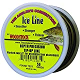 Woodstock Line 12-TU-50-20-MTR 50-Yard Metered Tip-Up Line 20 No., Black/Tan 12/Disp