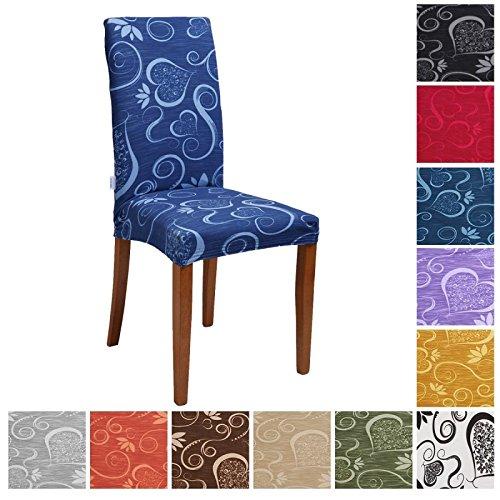 Joker Coprisedia vesti sedia millerighe elasticizzato 2 pezzi linea Cuori L671 SATIN / GRIGIO