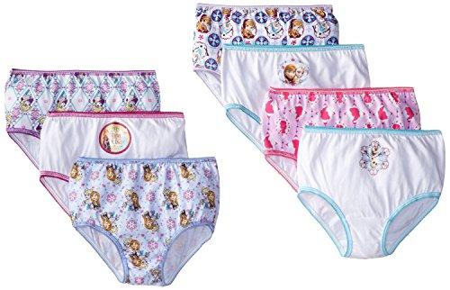 Handcraft Little Girls' Frozen 7 Pack Panty, Multi-color , 4T