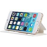 IVSO Terse Leder Tasche / Case / Hülle / Schutzhülle für Apple IPhone 6 Smartphone (4.7 Zoll) - mit Standfunktion (Für Apple Iphone 6 Smartphone, Weiß)