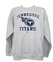 NFL Tennessee Titans Crew Neck Sweatshirt, Gray by Reebok