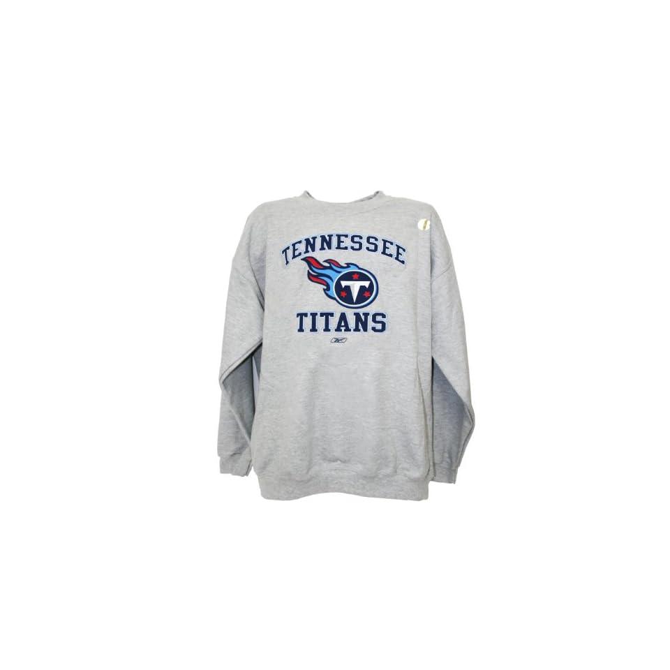 NFL Tennessee Titans Crew Neck Sweatshirt, Gray, Medium