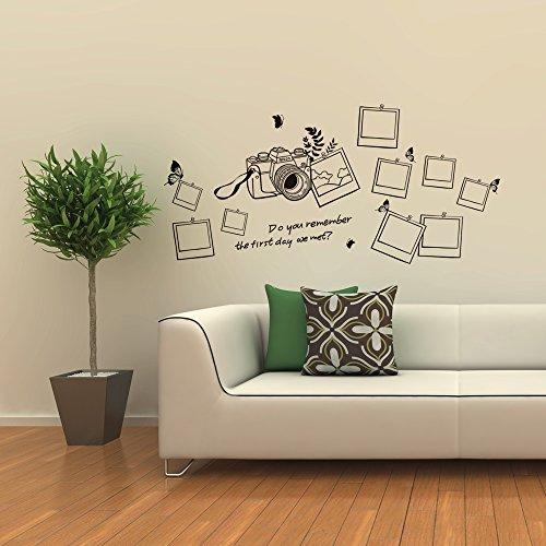 Walplus adesivi per muro motivo cornici e macchina for Adesivi per muro