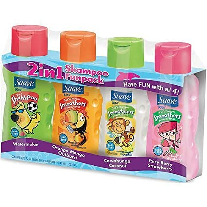 Suave Kids 2 in 1 Shampoo and Conditioner - 4Pk