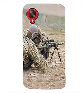 PRINTSWAG SOLDIER Designer Back Cover Case for LG GOOGLE NEXUS 5