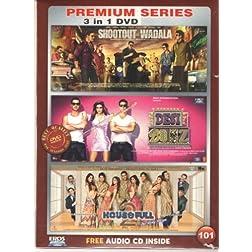 Shootout at Wadala / Desi Boyz / Housefull 2 (Hindi Movie / Bollywood Film / Indian Cinema DVD) 3 in 1 Orginal Without Subtittles