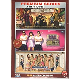 Shootout at Wadala / Desi Boyz / Housefull 2 (Hindi Movie / Bollywood Film / Indian Cinema DVD) 3 in 1 Orginal Without Subtittles