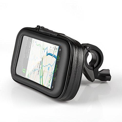 OKCS-Fahrradhalterung-Halter-Lenkradhalterung-Bike-Holder-mit-wasserdichter-Schutzhlle-Tasche-Universal-fr-Smartphones-Handy-Navi-GPS-etc-in-Schwarz