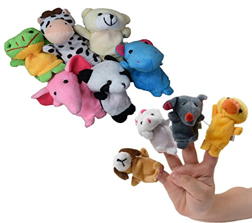 Dazzling Toys Finger Puppets Set - Pack of 10 Styles (D087)