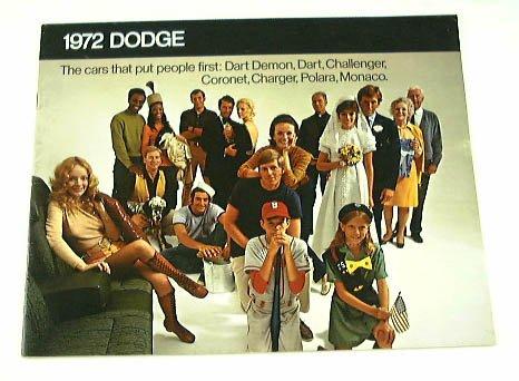 1972 72 DODGE BROCHURE Challenger Charger Dart Monaco