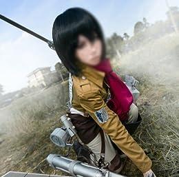進撃の巨人 attack on titan ミカサ・アッカーマン風 マフラー コスプレ衣装 コスチューム Cosplay Costume COSSKY