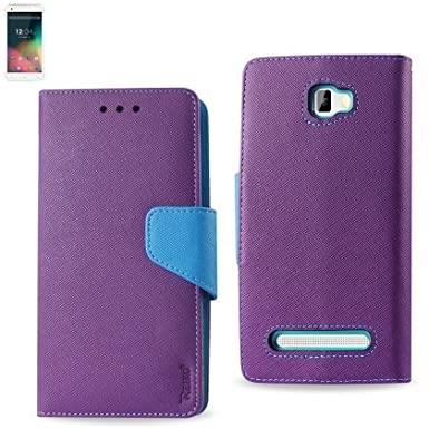 Reiko High Quality Premium BLU Studio Leather 5.5(D610)Fitting Flip Wallet Case 3 IN 1 With Card Slots-Purple at Sears.com
