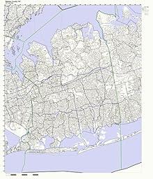 Nassau County, New York NY ZIP Code Map Not Laminated