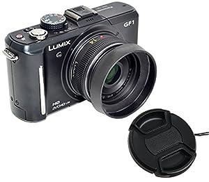 Fotasy MH46C Metal Screw-In Lens Hood and Cap for Panasonic Lumix 14mm f2.5 20mm f/1.7 Lens