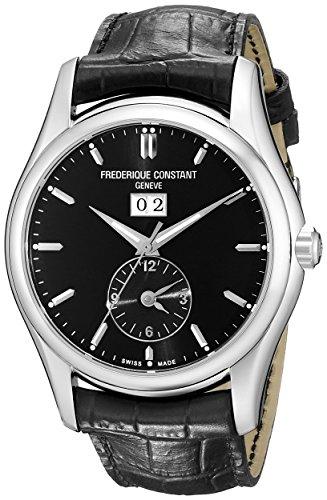 Frederique Constant FC-325B6B6 - Reloj para hombres, correa de cuero color negro