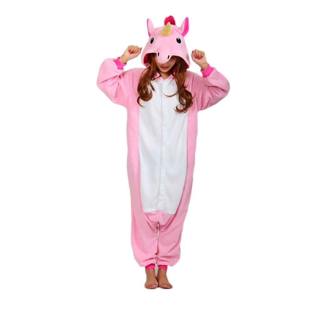 PInk Unicorn Sleepsuit Pajamas Cosplay Lounge Wear