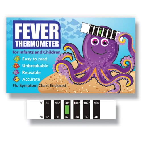Octopus Forehead thermometer with Cold, Flu & Fever Baby Information Pack