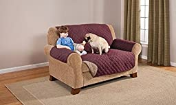 Deluxe Reversible LoveSeat Furniture Protector, Burgundy / Taupe 75\