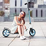 Fast Adult Scooter with 3 Seconds Easy-Folding System,220lb Folding Adjustable Scooter with Disc Brake and 200mm Large Wheels (Blue)