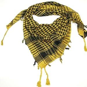 Yellow Desert Scarf  Try these trendy desert scarves  Shemagh  Keffiyeh