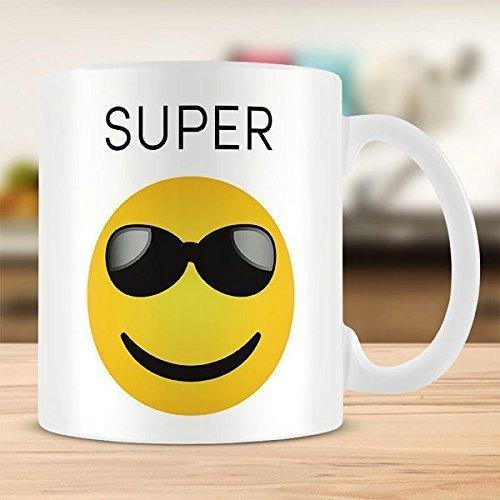 Emoji con faccina sorridente, Super-Tazza in ceramica, 325 ml