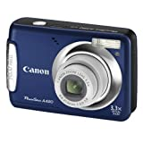 "Canon PowerShot A480 Digitalkamera (10 Megapixel, 3-fach opt. Zoom, 6,4 cm (2,5 Zoll) Display) Blauvon ""Canon"""