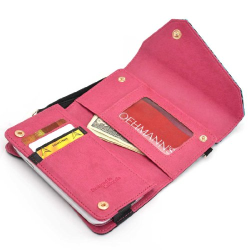 Safari Series wallet w/phone holder in Zebra Print PLUS accommodating chain and wristlet for LG Optimus F3 LS720 kitavt75417unv10200 value kit advantus id badge holder chain avt75417 and universal small binder clips unv10200