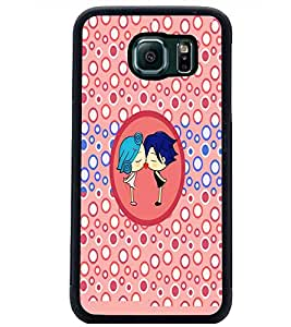 PrintDhaba Couple D-5863 Back Case Cover for SAMSUNG GALAXY S6 EDGE (Multi-Coloured)