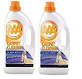Vax AAA Pet Odour Carpet Cleaner Shampoo Pack Of 2 1.5 Litre Bottles