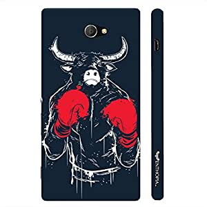 Sony Xperia M2 Bull Fight designer mobile hard shell case by Enthopia