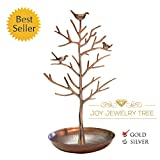 Elegant Tall & Large Jewelry Tree Display Stand - Extra Durable for Earrings, Bracelets, Necklaces (Premium Gold)
