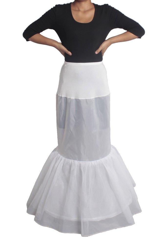 XYX Frauen-Hochzeits PetticoatUnderskirt Schlupf Krinoline FISHTAIL 2 Layer WEISS XS-M günstig online kaufen