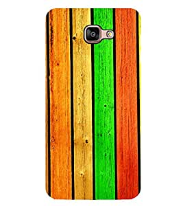 Colourful Wooden Pattern 2D Hard Polycarbonate Designer Back Case Cover for Samsung Galaxy A8 :: Samsung Galaxy A9 (2016) Duos with dual-SIM card slot