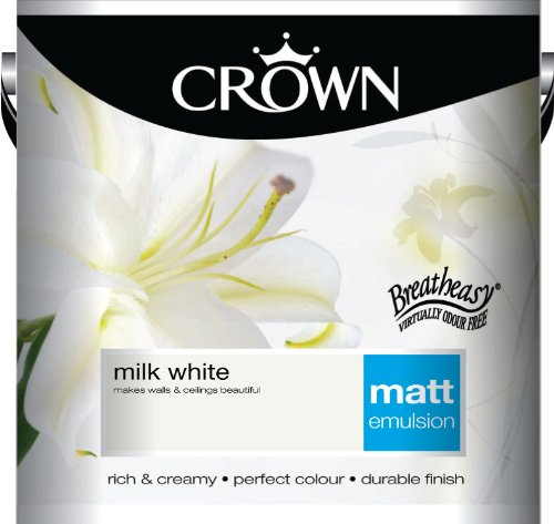 Crown Matt 2.5L Emulsion - Milk White