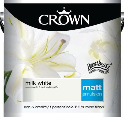 Crown Matt 2.5L Emulsion - Milk White