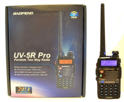 BaoFeng 2013 Ultimate Version UV-5R PRO Dual-Band 136-174/400-480 MHz FM Ham Two-way Radio with Latest Circuitry (2013 Ultimate Version)