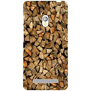 Printland Wooden Chunks Phone Cover For Asus Zenfone 5 A501CG