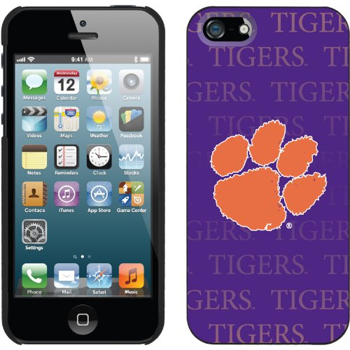 Special Sale Clemson - Repeating design on a Black iPhone 5s / 5 Thinshield Snap-On Case by Coveroo