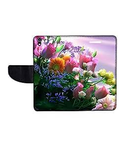 KolorEdge Printed Flip Cover For Lenovo S850 Multicolor - (50KeMLogo09563LenovoS850)