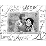 """Malden International Designs Beveled Glass """"Treasures Love"""" Metal Picture Frame, 4 by 6-Inch, Silver"""