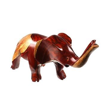 Exotique & teakproducts meubles décoration animaux présents naturellement art sculpture d'éléphant en bois précieux bois hF 4-33 lot