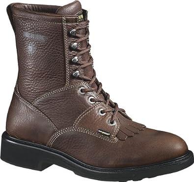 Men's Wolverine TREMOR Steel Toe EH Boots BROWN 8.5 EW