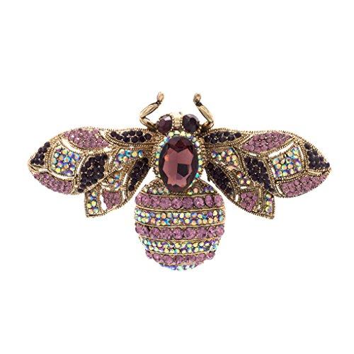 Vintage Style Rhinestone Crystal Bug Bee Brooch Pin Animal Broach Pins Jewelry 6608 0