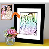 Gift For Father | Gift For Papa | Birthday Gift For Papa | Photo Frame(11x9)inch With Personalized Photo(7x5)inch By Tied Ribbons