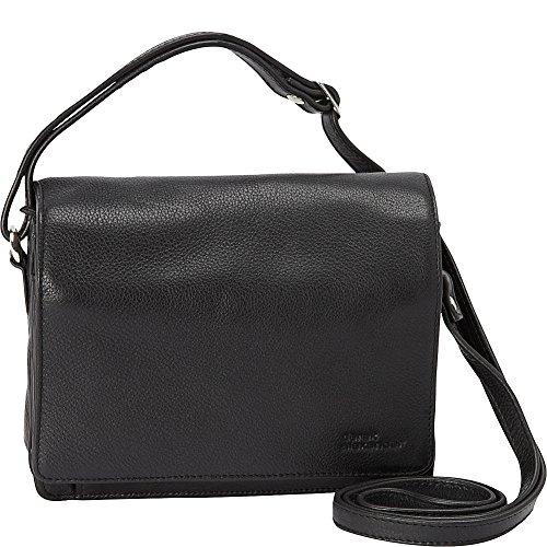 derek-alexander-full-flap-multi-compartment-organizer-shoulder-bag-black